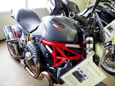 Old names and modern interpretations:  Ducati and Triumph.