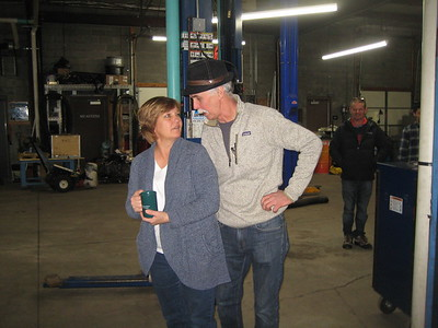 Barb and Jeff Jones share a chat.