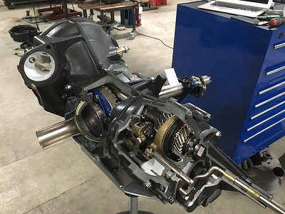 "A Porsche ""cut open"" transmission/differential."