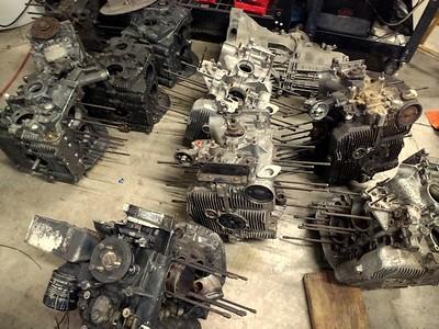 Broken motors and transmissions.