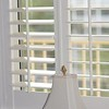 Wood Shutter, 3.5 Louver, Bright White, Deluxe Frame with sill cap
