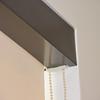 """Sunscreens Roller Shades Mermet E 10 %, Linen Linen with 3"""" Bronze Fascia"""