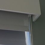 Double roller shades - Blackout back, sunscreen front