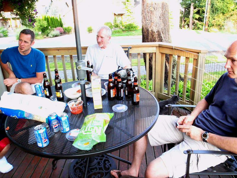 Michael, T2, Craig.<br /> We spent the night at Michael's in Bellingham.<br /> He and Robert are very gracious hosts.<br /> Somehow, I missed getting a photo of Robert - sorry about that Bob...