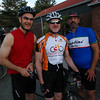 Craig, Tom Miller(T2) and me(T1) at the start of the 2008 Ride Seattle to Vancouver and Party (RSVP) ride.