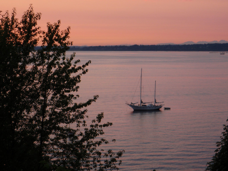 Day 1 Sunset over Bellingham Bay.  Nuff said.
