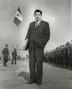 Ruben Salazar in Mexico City, Mexico, 1966