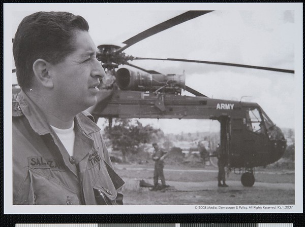 Ruben Salazar, US Army Base, Saigon, Vietnam, 1965 [front]