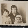Ruben Salazar with mother and sister, El Paso, TX, 1929 [front]