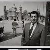 Ruben Salazar in Zocalo, the Plaza de la Constitucion (Constitution Square) in Mexico City, ca. 1967 [front]