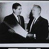 Ruben Salazar and Ernest E. Debs, Los Angeles Board of Supervisors, Los Angeles, CA, ca. 1963 [front]