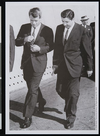 Ruben Salazar with Robert Kennedy, Los Angeles, CA, 1960 [front]