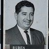 Ruben Salazar, Los Angeles Times employee photograph, Los Angeles, CA, 1959 [front]