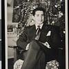 Ruben Salazar at home, El Paso, TX, ca. 1950s [front]