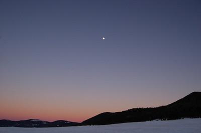 Caldera at sunset
