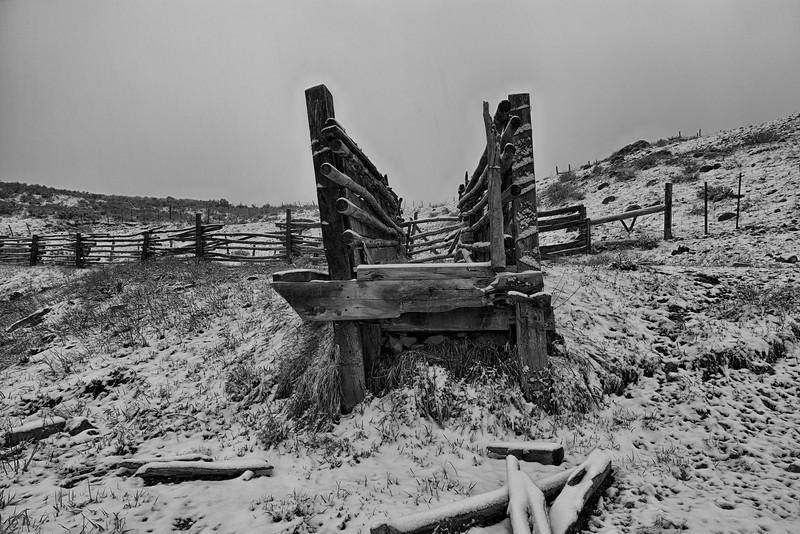 Cattle Chute - Near Gunnison, CO