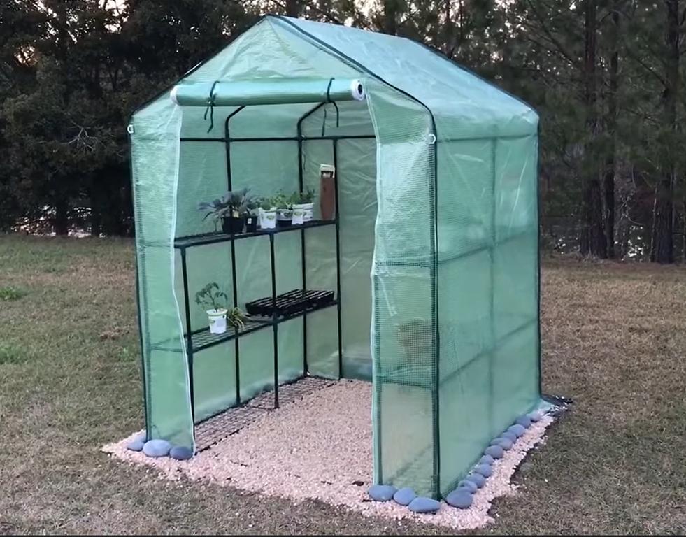 Portable walk-in greenhouse