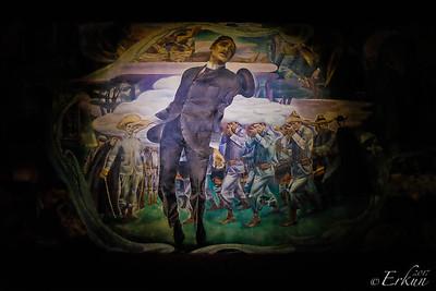 Fort Santiago: Rizal Shrine ... mural depecting Rizal's execution.
