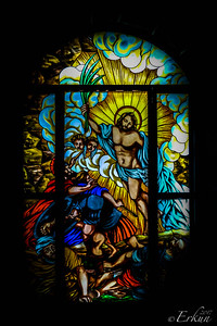 Museo San Agustin: Church & Monastery — Risen Christ stained glass window.