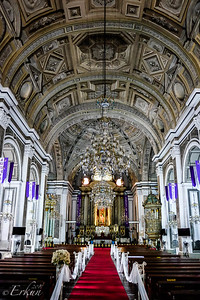 Museo San Agustin: Church & Monastery — painted ceiling.