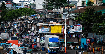 Distant look at one of the slums.