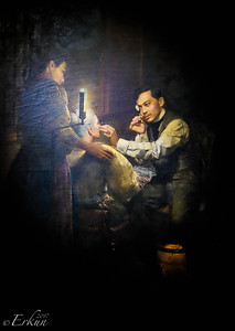 Treating his Mother ... Rizal was an opthalmologist by trade.