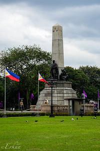 Monument honoring Jose Rizal, the National Hero.