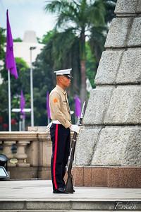 Filipino Marine guarding the Rizal Monument