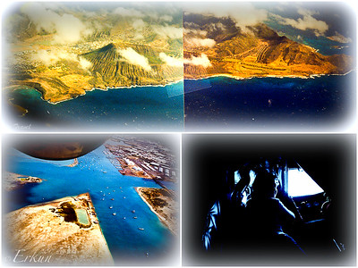 Oahu from a KC135