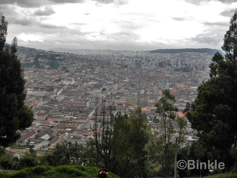 Blick auf die Altstadt  von der Virgen del Panecillo <br /> View of the Old Town from the Virgen del Panecillo