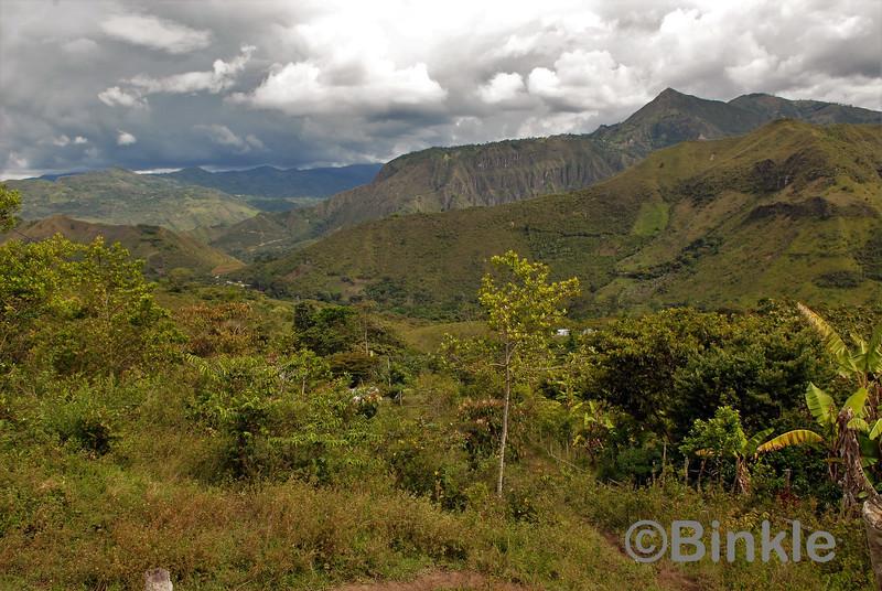 Aussicht von Tierradentro<br /> View from Tierradentro