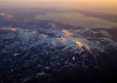 Lake Tahoe and the Sierra Nevada range, looking east towards Nevada.