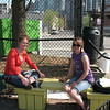 Stephanie and Lauralyn, Chicago Lights Urban Farm staff and urban farming pros!