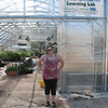 Lauren in front of the greenhouse, where we did a lot of work this semester building tables, hanging lights, and watering plants. This was constructed by Amish farmers from Indiana in early September, 2012.