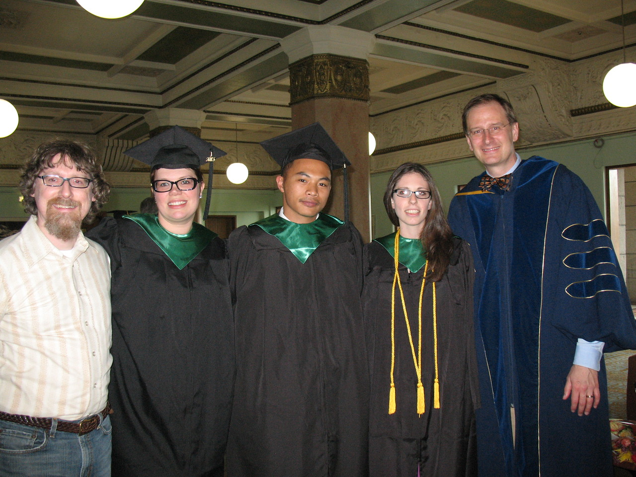 L to R: Prof. Mike Bryson, Angi Cornelius, Mike Magdongon, Stephanie Eisner, and Prof. Brad Hunt