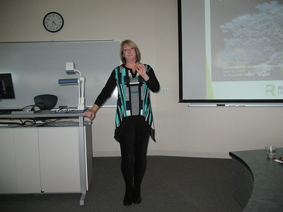 MaryBeth presents her work as an RU environmental sustainability intern at the SCH Campus in 2013