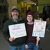 In RU's WB Lobby with our signs for the march