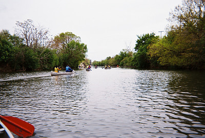 Paddling south on Bubbly Creek.