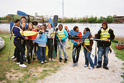 Canoeing as a unifying enterprise. If only we could get all the key IL politicians to take a canoe trip on the Chicago River together, we'd might make real strides on environmental policy here in the Prairie State.