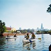 RU students paddle the North Branch of the Chicago River, Oct. 2011 (M. Bryson)