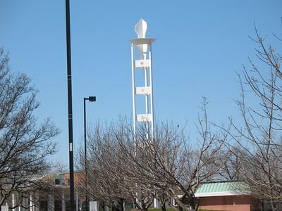 The torch tower at RU's Schaumburg Campus