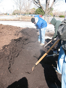 That compost is warm! Look at the steam rise off the pile on this cool April morning.