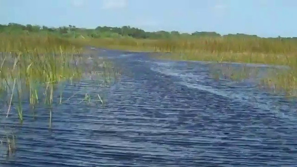 RUNNIN` AIRBOAT TRAIL IN A JONBOAT