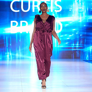 The Society Fashion Week Los Angeles 4:30 Show October 13, 2018  Designer - Curtis Brand;  Model - Elissia Mathews @elissiavonne