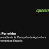 Declaraciones de Luís Ferreirim, Responsable de la Campaña de Agricultura en Greenpeace España (purines 1)