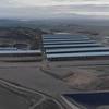 Grabación aérea de la balsa de purines de la macro explotación de la empresa Valle de Odieta