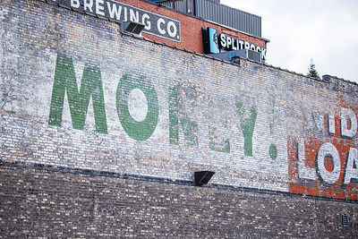 Loans wall advertising ghost sign Superior Street Duluth MN IMGC8196