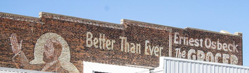 wall advertising art ghost sign Lake Benton MN  IMG_1384
