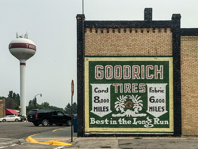 Goodrich Tires wall advertising sign ghost sign Twin Valley MN IMG_8358