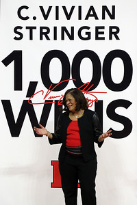 Rutgers Women's basketball take on Central Connecticut State for Rutgers head coach C. Vivian Stringer's 100 career win at the Rutgers Athletic Center in Piscataway on Tuesday November 13, 2018.  (MARK R. SULLIVAN/THE OCEAN STAR)